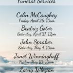 Upcoming Funeral Masses